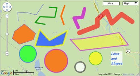 Drawing lines and shapes on map with Geokov map maker