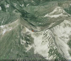 Cliff On A Topographic Map.Mountain Pass Cliff Depression Terrain Features And Contour Lines
