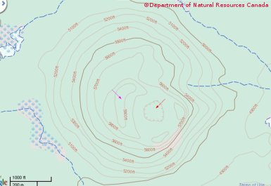 Topographic Map Of A Mountain.Mountain Pass Cliff Depression Terrain Features And Contour Lines